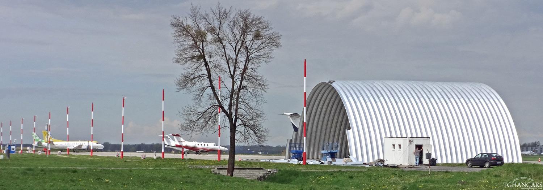 TG Hangars - prefabrykowane, lekkie hangary łukowe (montaż hangaru łukowego)