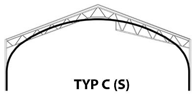 Prefabrykowana, samonośna hala łukowa TG Buildings typu C (S) a tradycyjny kształt hali stalowej na konstrukcji nośnej