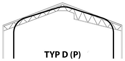 Prefabrykowana, samonośna hala łukowa TG Buildings typu D (P) a tradycyjny kształt hali stalowej na konstrukcji nośnej.